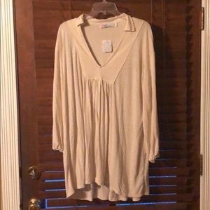 Free People Beach cream colored tunic